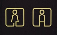 a slightly more stylized version of standard washroom signs